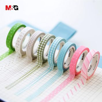 M&G washi tape set school supplies colored decorative adhesive scotch tape masking stationery office christmas scrapbooking tool
