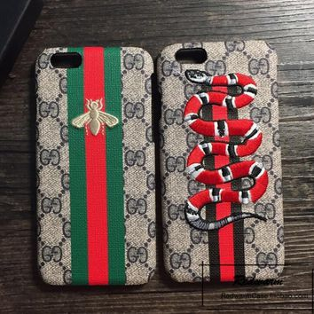 GUCCI Embroidery Hard shell iphone 6s protective phone case