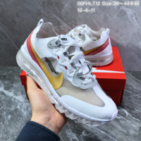 HCXX N1439 Nike React Element 87 Retro Cushion Running Shoes White Red Gold