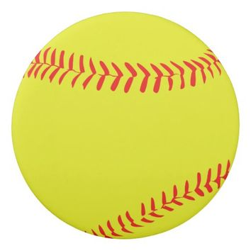 Yellow Softball Eraser