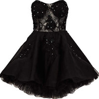 Black Forever Unique lace prom dress