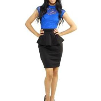 Lucille Peplum Dress