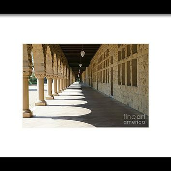 Stanford University Main Quad Palo Alto California Dsc678 Framed Print