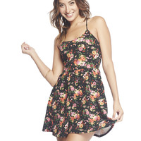 Floral Crossed Back Dress | Wet Seal