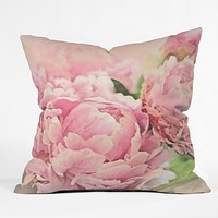 Lisa Argyropoulos Pink Peonies Throw Pillow