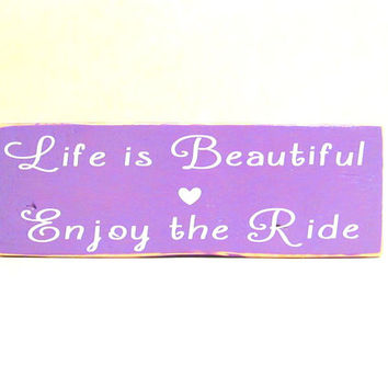 Life is Beautiful Sign, Wood Block Decor, Wall Art, Sign Decor, Primitive Sign, Primitive Wood Sign, Wood Block Sign, Funny Wall Art