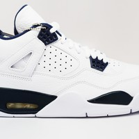 Air Jordan 4 Retro Legend Blue Basketball Shoes <>