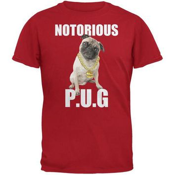 DCCKJY1 Notorious PUG Red Adult T-Shirt