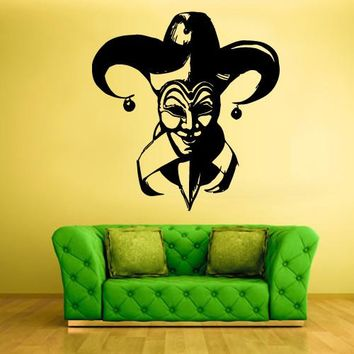 Wall Vinyl Decal Sticker Bedroom Decal Clown Funnyman Horror Harlequin Funster z353