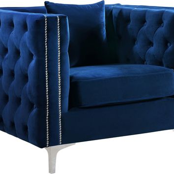 Jesse Navy Velvet Chair