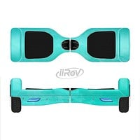 The Subtle Neon Turquoise Surface Full-Body Skin Set for the Smart Drifting SuperCharged iiRov HoverBoard