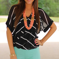 Cross Your Heart Top, Black