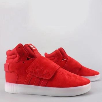 Adidas Tubular Invader Strap Fashion Casual High-Top Old Skool Shoes-1