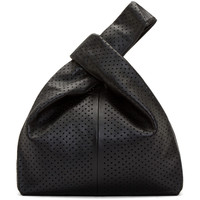 Black Perforated Leather Tote Bag