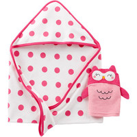 Walmart: Child Of Mine By Carters Newborn Baby Girl Hooded Towel and Bath Mitt Gift Set