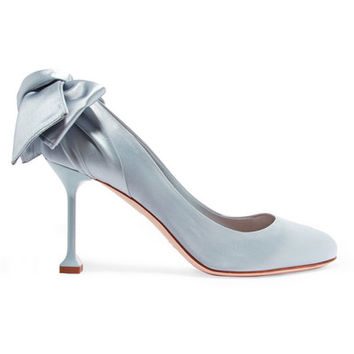 Miu Miu - Bow-embellished satin pumps