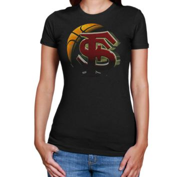 Florida State Seminoles :FSU: Ladies Black Blackout T-shirt