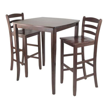 3 Piece Inglewood High/Pub Dining Table with Ladder Back Stool