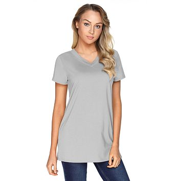 Gray Loose Fit Basic T-Shirt