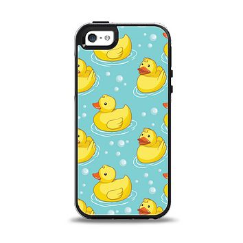 The Cute Rubber Duckees Apple iPhone 5-5s Otterbox Symmetry Case Skin Set
