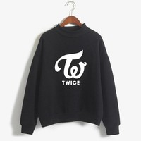 New Twice Blackpink Wanna One Casual Hoodies For Women Exo Bts Got7 Monsta X Sweatshirt Female Army Kpop Hoodie Harajuku Clothes