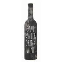 Save Water Drink Wine - Wood Wall Decor 20-in
