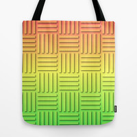 Basket Weave - Summer Colors Tote Bag by Lyle Hatch