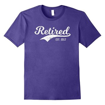 RETIRED 2018 Best Top Fun Retirement Drinking Party T-Shirt