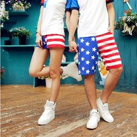 Casual American Flag Beach Shorts