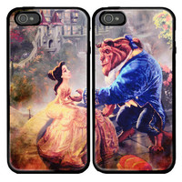 Beauty and the Beast Custom couple Case for iPhone 4 by viagrashop