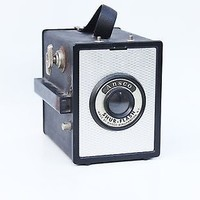 Vintage Ansco Shur Flash Film Box Camera Binghamton, NY Analog Retro Gift