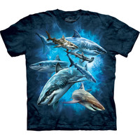 Sharks in Water Collage T-Shirt