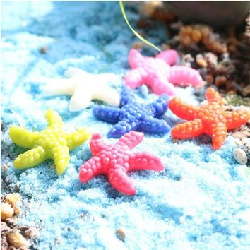 Best Quality 10pcs Resin Cute Miniature Starfish Fish Tank Aquarium Ornaments Decor New