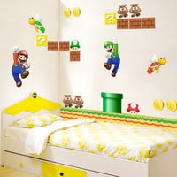 Super Mario Game Kids Bedroom Wallsticker Decal - GULLEITRUSTMART.COM