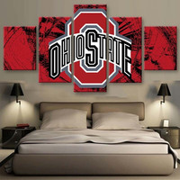 Ohio State 5-Piece Wall Art Canvas