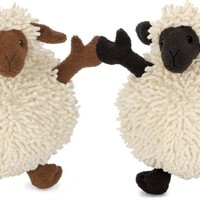 GoDog Toys Fuzzy Wuzzy Sheep Plush Dog Toy