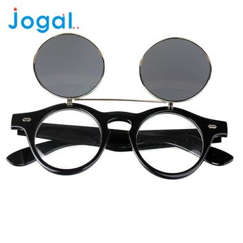 Steampunk Retro Flip Up Goth Goggles Sunglasses
