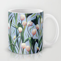Waiting on the Blooming - a Tulip Pattern Mug by Micklyn
