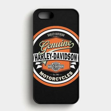 Harley Davidson Motorcycles Typography Art iPhone SE Case