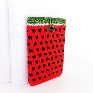 Watermelon Kindle Paperwhite ereader cover, red Kobo Touch 2 case, red Kindle Voyage cozy, Nook Glowlight plus sock, Kobo Aura ebook sleeve
