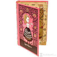 Magnetic Leather-bound Hollow Book Safe - Alice's Adventures in Wonderland by Lewis Carroll