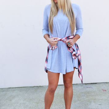 On The Go Swing Dress {Heather Gray}