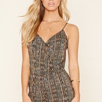 Abstract Surplice Romper