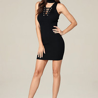 KRYSTA LACE UP DRESS