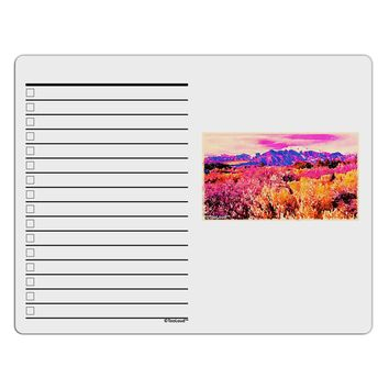 Colorful Colorado Mountains To Do Shopping List Dry Erase Board by TooLoud
