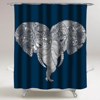 elephant punch trunk love custom shower curtain decorative shower curtain size 36x72,48x72,60x72,66x72