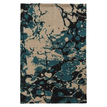 Threshold™ Marble Print Accent Rug Turquoise 2x3'