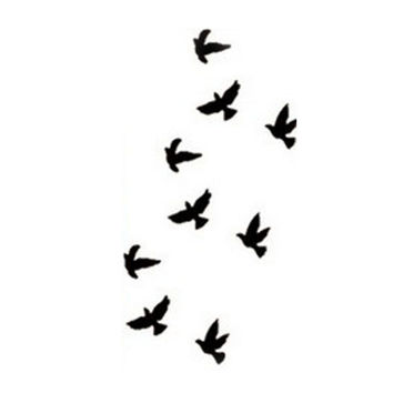 Liberty Small Birds Fly Design Waterproof Temporary Tattoos Sticker Women Sexy Finger Wrist Flash Fake Tattoo Stickers