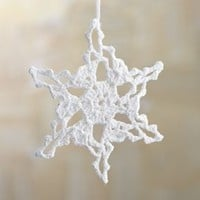 Crochet Medium Snowflake Ornament