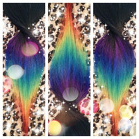 150 Itips / 28 Long / Ombre Rainbow Tips / Real by ArtisicStrands